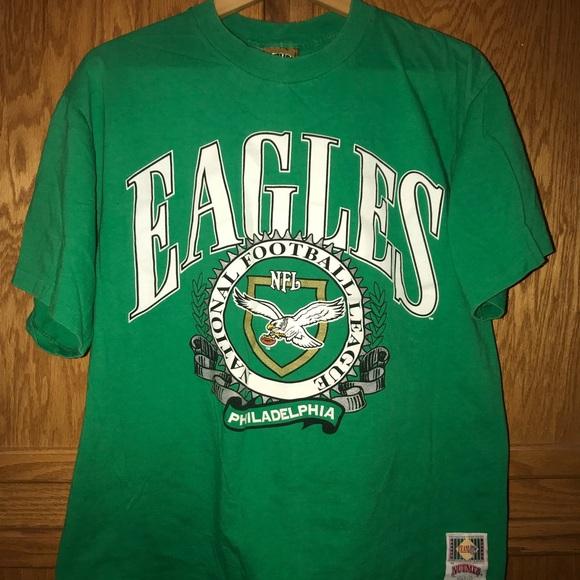 timeless design 93ac3 67966 Vintage Philadelphia Eagles Nutmeg T-shirt NFL L